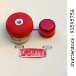 Small photo of Red wall mounted Fire Alarm Bell