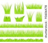 vector green grass on white...   Shutterstock .eps vector #93606478