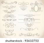 swirls and frames | Shutterstock . vector #93610753