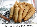 freshly deep fried spring roll... | Shutterstock . vector #93613783