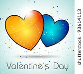 vector colorful hearts | Shutterstock .eps vector #93614113