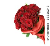 Stock photo big red roses bouquet 93616243