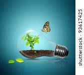 Bulb Light With Tree Inside An...