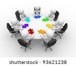 3d people   human character  ... | Shutterstock . vector #93621238