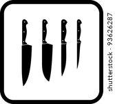 kitchen knives   vector icon...   Shutterstock .eps vector #93626287