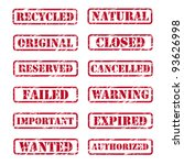 grunge rubber stamps   Shutterstock .eps vector #93626998