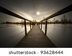 Small Wooden Bridge Over...