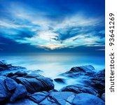 alien sea at dawn. long... | Shutterstock . vector #93641269