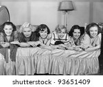 slumber party | Shutterstock . vector #93651409
