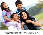 beautiful family portrait...   Shutterstock . vector #93659947