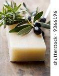 olive and rosemary soap - stock photo