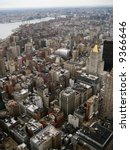 ariel view of new york and...