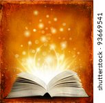 book. opened magic book with... | Shutterstock . vector #93669541