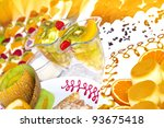 colorful fruit cocktail and... | Shutterstock . vector #93675418