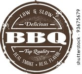 classic barbeque stamp | Shutterstock .eps vector #93675679