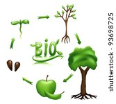 apple life cycle and bio sign.... | Shutterstock .eps vector #93698725