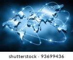best internet concept of global ... | Shutterstock . vector #93699436