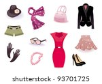 vector set icon of clothes and... | Shutterstock .eps vector #93701725