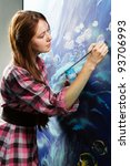 professional painter at work ... | Shutterstock . vector #93706993
