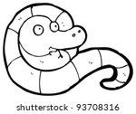 friendly snake cartoon  raster... | Shutterstock . vector #93708316