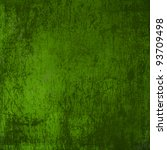 Grunge Green Background With...