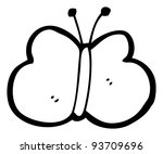 butterfly cartoon  raster... | Shutterstock . vector #93709696