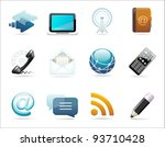 a set of communication icons | Shutterstock .eps vector #93710428