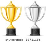 gold and silver cup | Shutterstock .eps vector #93711196