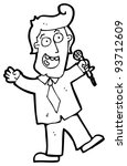 game show host cartoon  raster... | Shutterstock . vector #93712609