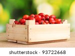 ripe briar in wooden box on... | Shutterstock . vector #93722668