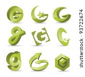 Abstract Letter G Symbol Icon...