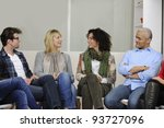 team building  group discussion ... | Shutterstock . vector #93727096