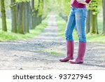 detail of woman wearing rubber... | Shutterstock . vector #93727945