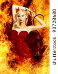 Sexy Blond Woman As Devil I...