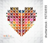abstract heart shape background ... | Shutterstock .eps vector #93733555