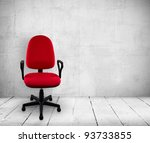 red a chair in old white ... | Shutterstock . vector #93733855