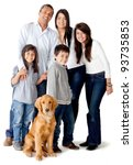 happy latinamerican family with ... | Shutterstock . vector #93735853