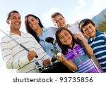 portrait of a beautiful happy... | Shutterstock . vector #93735856