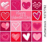 valentine heart greeting card.... | Shutterstock .eps vector #93737782