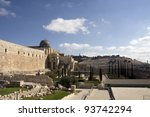 temple mount and jerusalem...   Shutterstock . vector #93742294