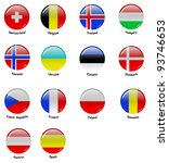 icons with flags of european... | Shutterstock . vector #93746653