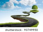 suspended in the sky road that... | Shutterstock . vector #93749950