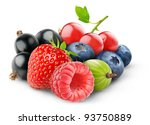 Isolated Berries. Pile Of Fres...