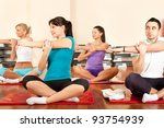 group of young people in gym... | Shutterstock . vector #93754939