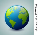 earth icon | Shutterstock .eps vector #93757264
