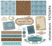 elegant scrapbook design... | Shutterstock .eps vector #93763696