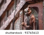 Lion Statue In The Ancient Iro...