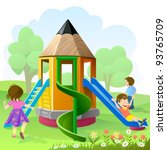 let's play and slide | Shutterstock .eps vector #93765709