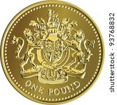 british money gold coin one... | Shutterstock . vector #93768832