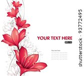red lilies design  vector...